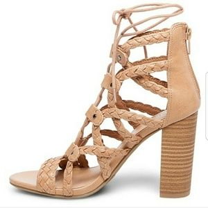 Merona Kolbie Braided Heeled Gladiator Lace Up 8.5